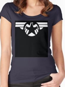 Geek Fusion : Captain SHIELD Women's Fitted Scoop T-Shirt