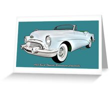 Buick Skylark Roadmaster Convertible Swag = Tee Phone & More Greeting Card