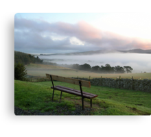 misty bench view Canvas Print