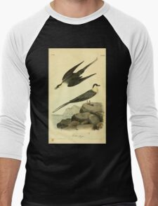 James Audubon Vector Rebuild - The Birds of America - From Drawings Made in the United States and Their Territories V 1-7 1840 - Arctic Jager Men's Baseball ¾ T-Shirt