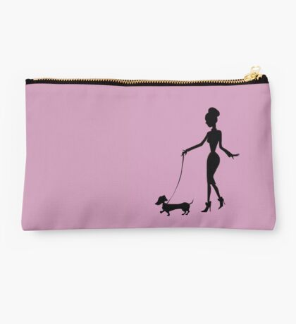 Flaunting The Pooch (violet) - Dachshund Sausage Dog Studio Pouch