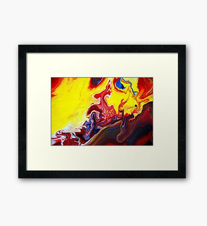 Red and Yellow Abstract Painting Framed Print