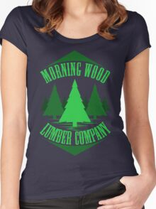 Morning Wood Women's Fitted Scoop T-Shirt