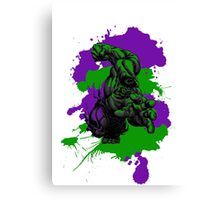 The Incredible Hulk Paint Splatter Canvas Print