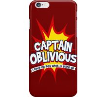 Captain Oblivious iPhone Case/Skin