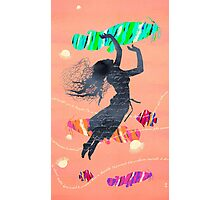 Space Surrealism Pop Vintage Woman I Photographic Print