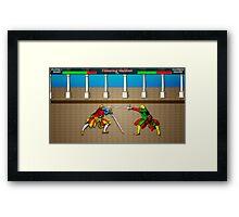 Fencing Master 16 bit HEMA tribute Framed Print