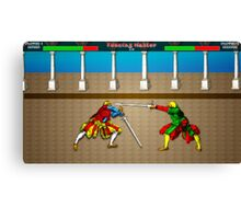 Fencing Master 16 bit HEMA tribute Canvas Print