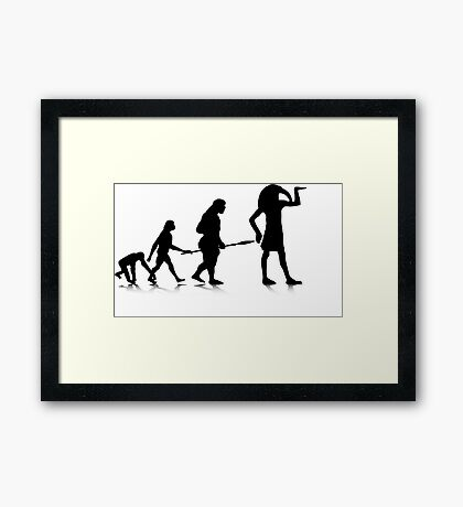 Human Evolution 12 Framed Print