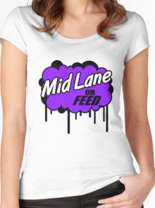 League of Legends: Mid Lane or Feed Women's Fitted Scoop T-Shirt