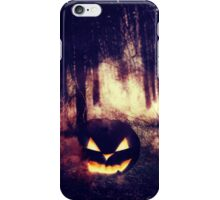 Pumpkins in the Night Forest iPhone Case/Skin