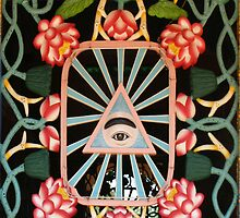 A Window of Cao Dai Temple, Tay Ninh, Vietnam by Bev Pascoe