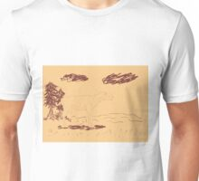 Rural Landscape with a Sheep 2 Unisex T-Shirt