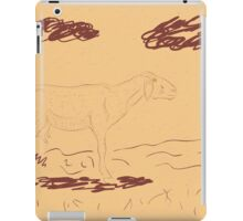 Rural Landscape with a Sheep 2 iPad Case/Skin