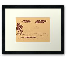 Rural Landscape with a Sheep 2 Framed Print