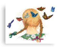 Butterfly Braid Song Canvas Print