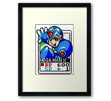 Megaman X Framed Print