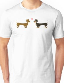Love Is In The Air - Dachshund Sausage Dog Unisex T-Shirt