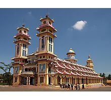 Cao Dai Temple at Tay Ninh, west of Ho Chi Minh City, Vietnam Photographic Print
