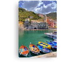 Vernazza - Five Lands - Marina Canvas Print