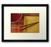 lay out  Framed Print