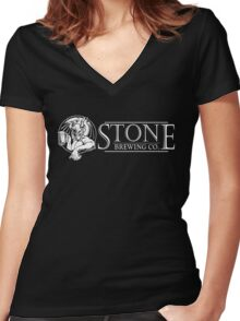 Stone Brewery Women's Fitted V-Neck T-Shirt