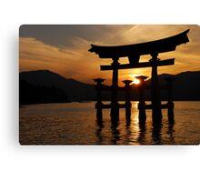 Sunset gates Canvas Print