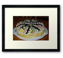 Sandwich Cake Framed Print