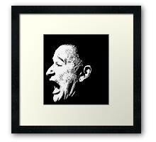 Robin Williams funny scream (BLACK T-SHIRT) Framed Print