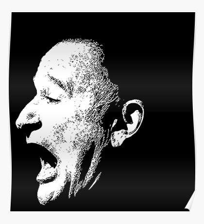 Robin Williams funny scream (BLACK T-SHIRT) Poster