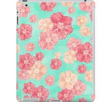 Blossoms (Aqua) iPad Case/Skin