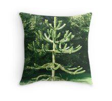 Monkey Puzzle Tree Throw Pillow