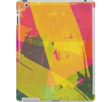 Pink, Yellow and Green Brush Stroke Watercolor Abstract iPad Case/Skin