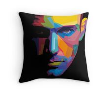 Ben Affleck batman portrait Throw Pillow