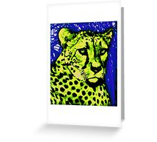 Painted Big Cat Cheetah art Greeting Card