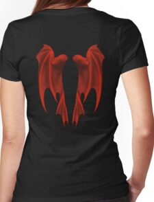 Dragon Wings Womens Fitted T-Shirt