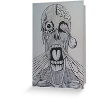 When Mars Attacks Meets Zombies Greeting Card