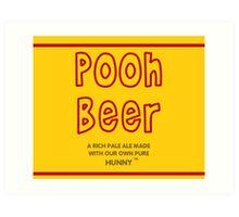 Pooh Beer Art Print