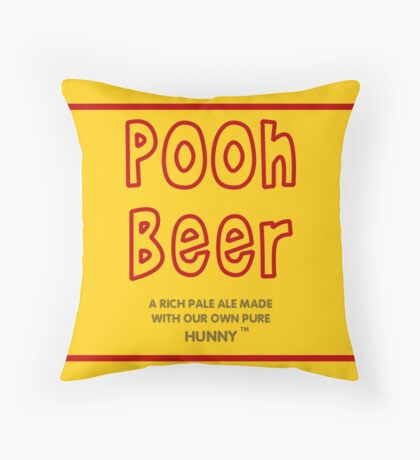 Pooh Beer Throw Pillow
