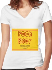 Pooh Beer Women's Fitted V-Neck T-Shirt