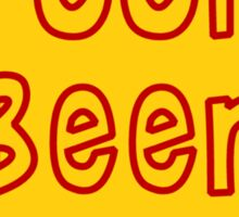 Pooh Beer Sticker