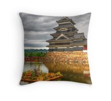 Grey skies over Matsumoto Throw Pillow