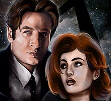 Mulder and Scully by barrocco