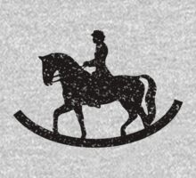 rocking horse chair riding  One Piece - Long Sleeve