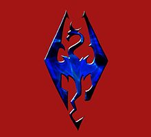 Blue Skyrim Logo by hellyblue