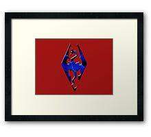 Blue Skyrim Logo Framed Print