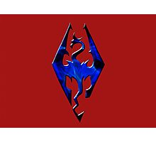 Blue Skyrim Logo Photographic Print
