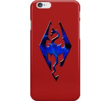 Blue Skyrim Logo iPhone Case/Skin