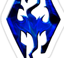 Blue Skyrim Logo Sticker