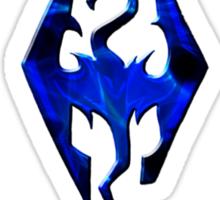 Blue Skyrim Logo Sticker
